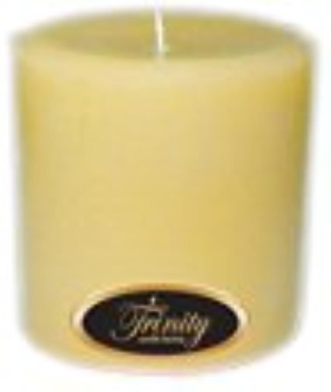 その静める創造Trinity Candle工場 – クリーミーバニラ – Pillar Candle – 4 x 4