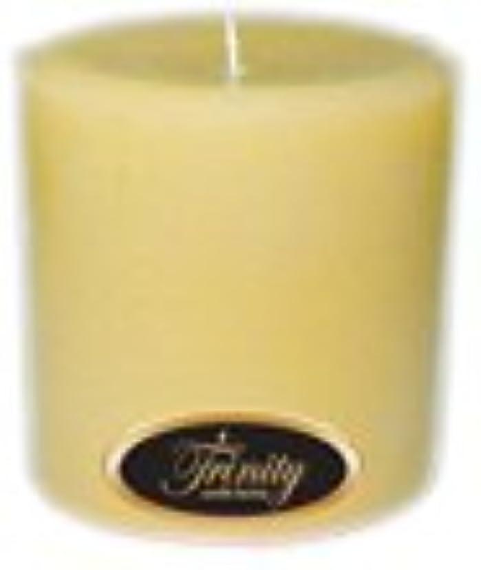 前奏曲国籍結果としてTrinity Candle工場 – クリーミーバニラ – Pillar Candle – 4 x 4