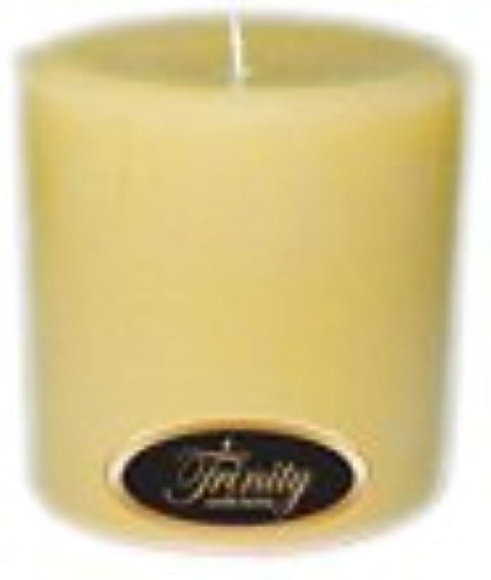知恵拮抗する阻害するTrinity Candle工場 – クリーミーバニラ – Pillar Candle – 4 x 4