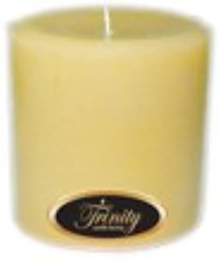 幽霊センチメンタル妨げるTrinity Candle工場 – クリーミーバニラ – Pillar Candle – 4 x 4