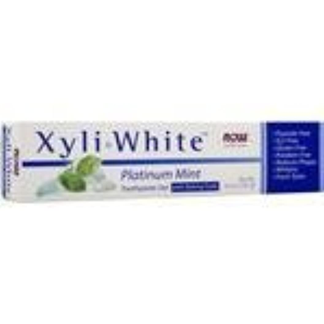 弱い嫌がる確保するキシリホワイト 歯磨き粉  プラチナミント+ベーキングソーダ 182g 5個パック