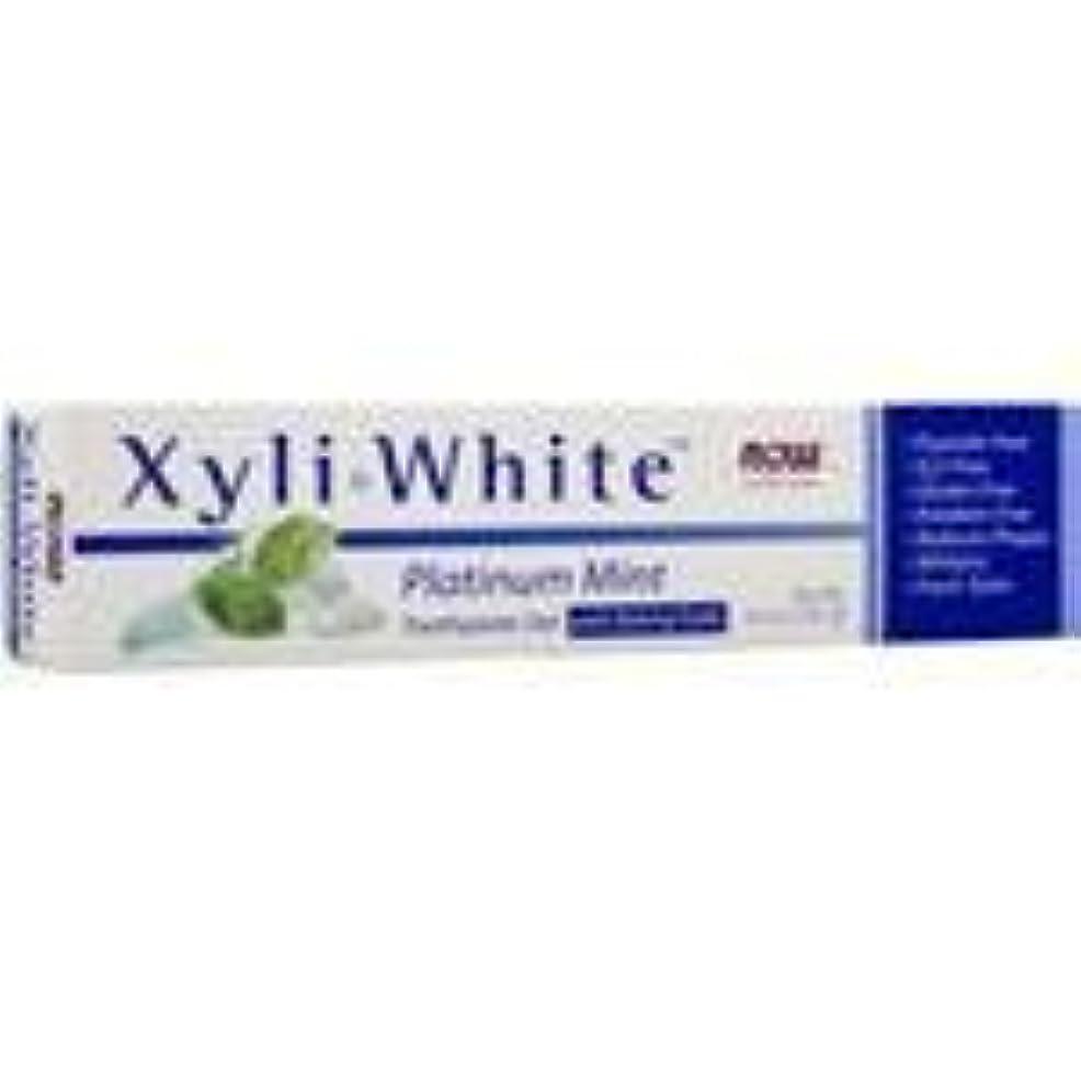 知覚できる流す盲目キシリホワイト 歯磨き粉  プラチナミント+ベーキングソーダ 182g 5個パック