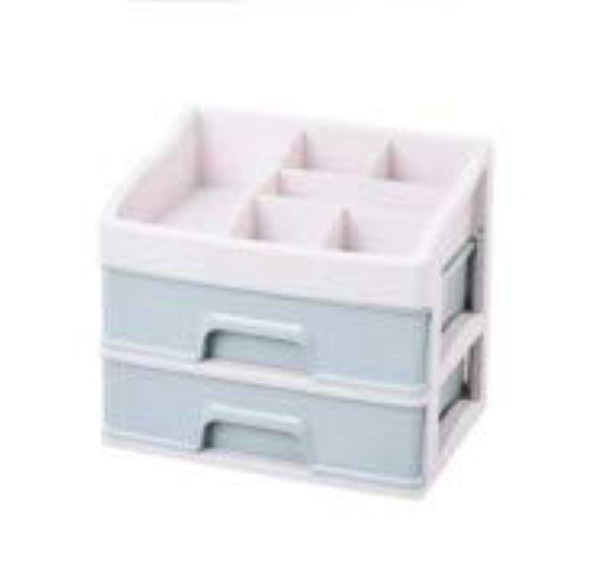 鈍い新鮮な適応的化粧品収納ボックス引き出しデスクトップ収納ラック化粧台化粧品ケーススキンケア製品 (Size : M)