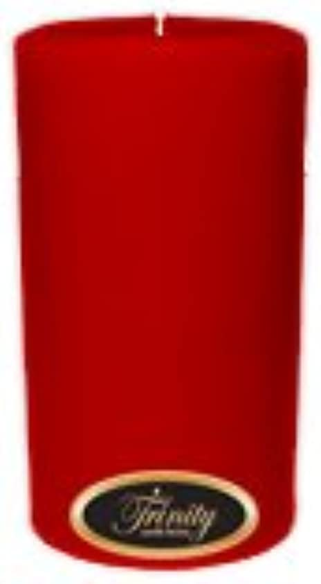 悪魔刑務所回転するTrinity Candle工場 – ザクロ – Pillar Candle – 3 x 6