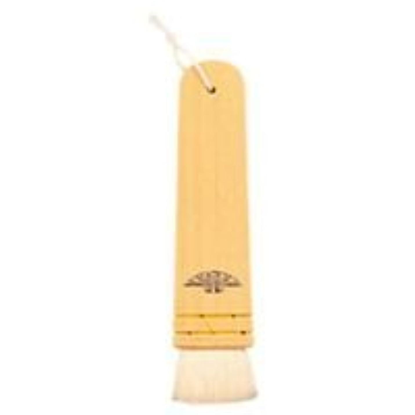 分類瞑想的日焼け三善 長柄板刷毛 メイクブラシ 木製 30mm 山羊毛 適度なコシと柔らかな毛 使用 (C)