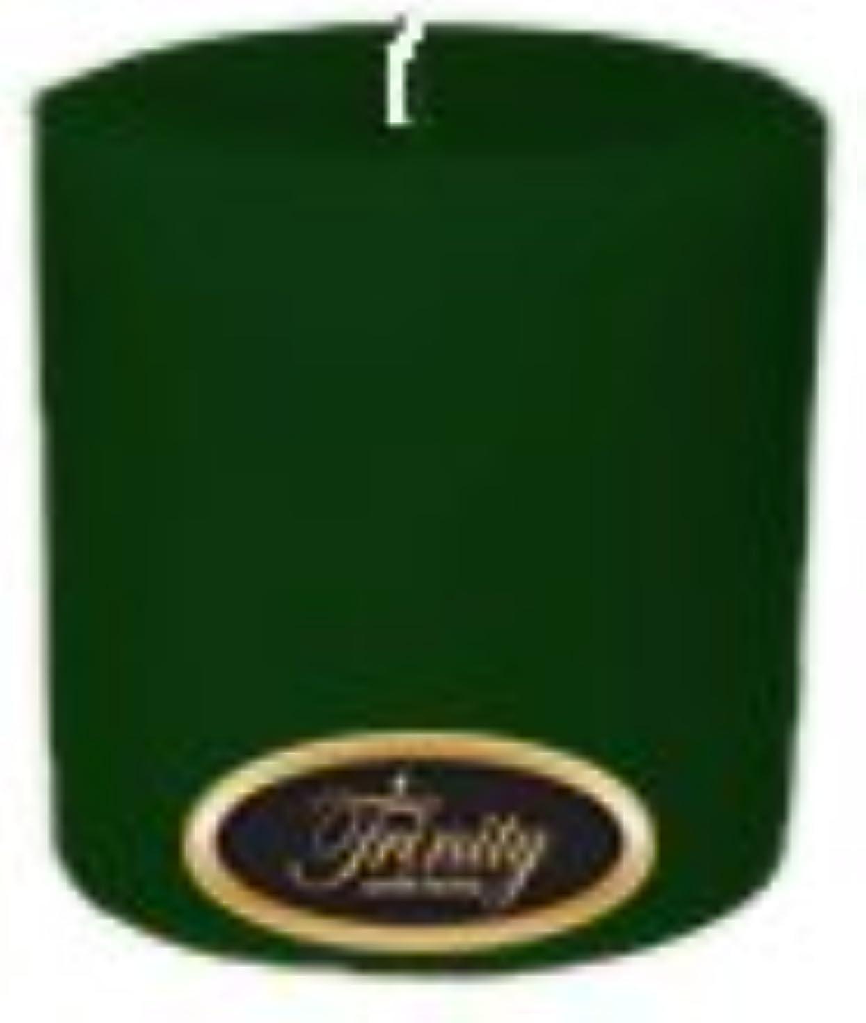 楕円形音楽を聴く良心的Trinity Candle工場 – Pine – Pillar Candle – 4 x 4