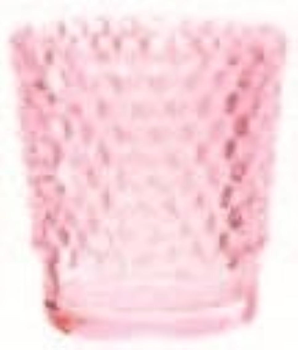 ブロック締めるタイプカメヤマキャンドル(kameyama candle) ホビネルグラス 「 コーラル 」