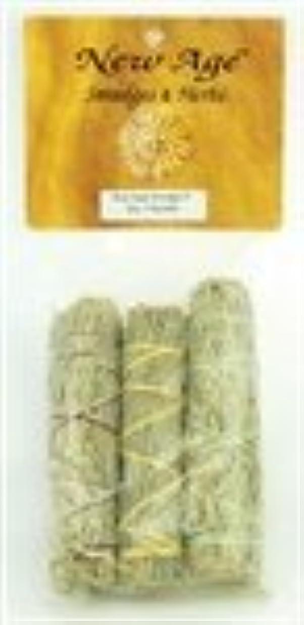シダ慈悲深い行商人ブルーセージSmudge Stick 3 - Pack