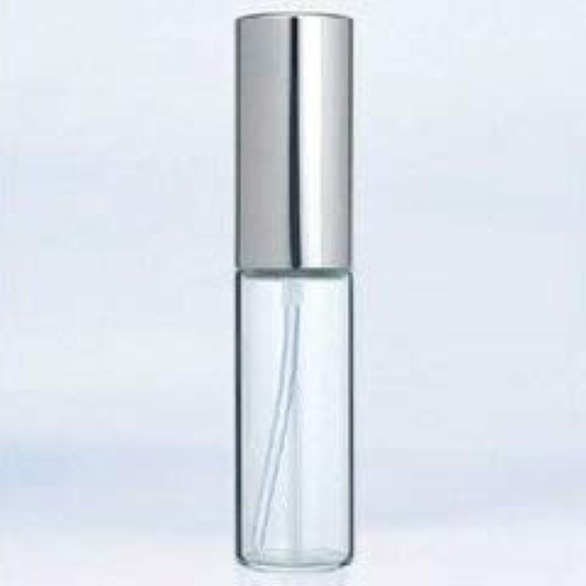 香港凶暴な少数【ヤマダアトマイザー】グラスアトマイザー プラスチックポンプ 無地 6202 アルミキャップ シルバー 10ml