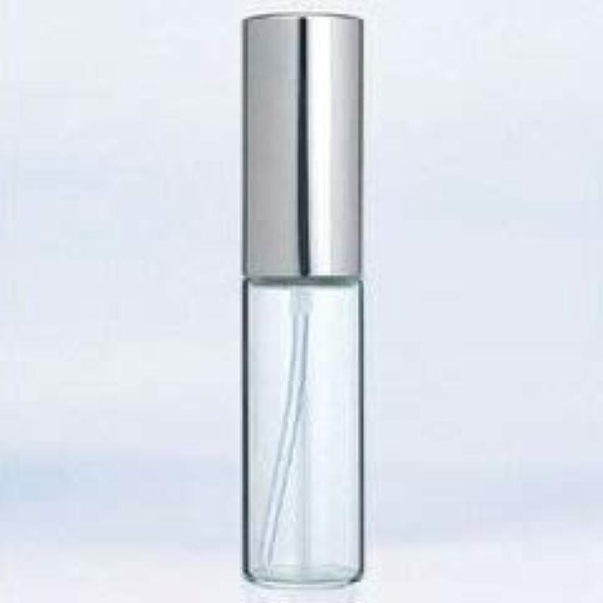 レトルトリズム許可する【ヤマダアトマイザー】グラスアトマイザー プラスチックポンプ 無地 6202 アルミキャップ シルバー 10ml