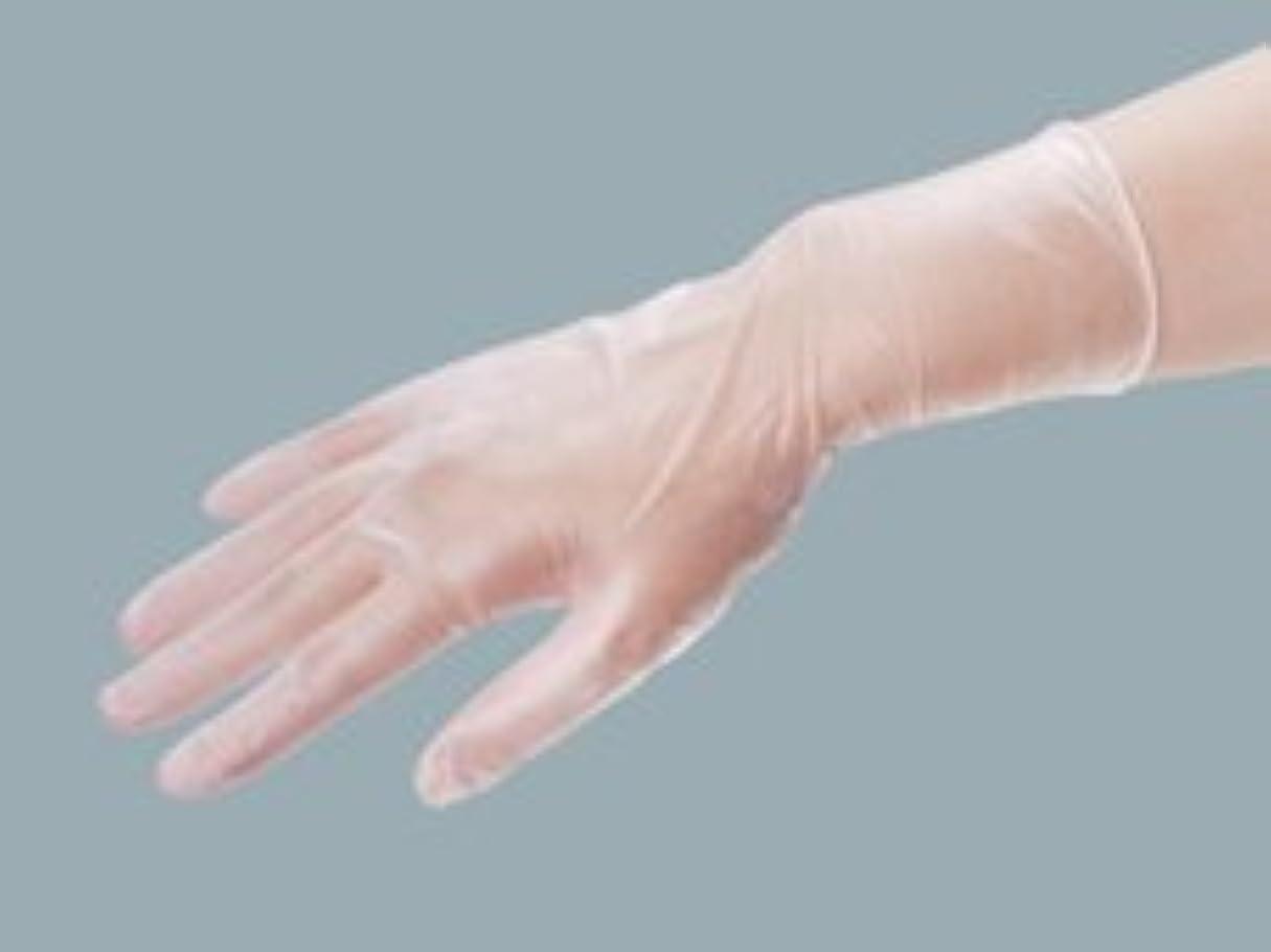 蓄積するテニスごちそうエクセレント プラスチック手袋 PVC-250粉付 Mサイズ(100枚入)