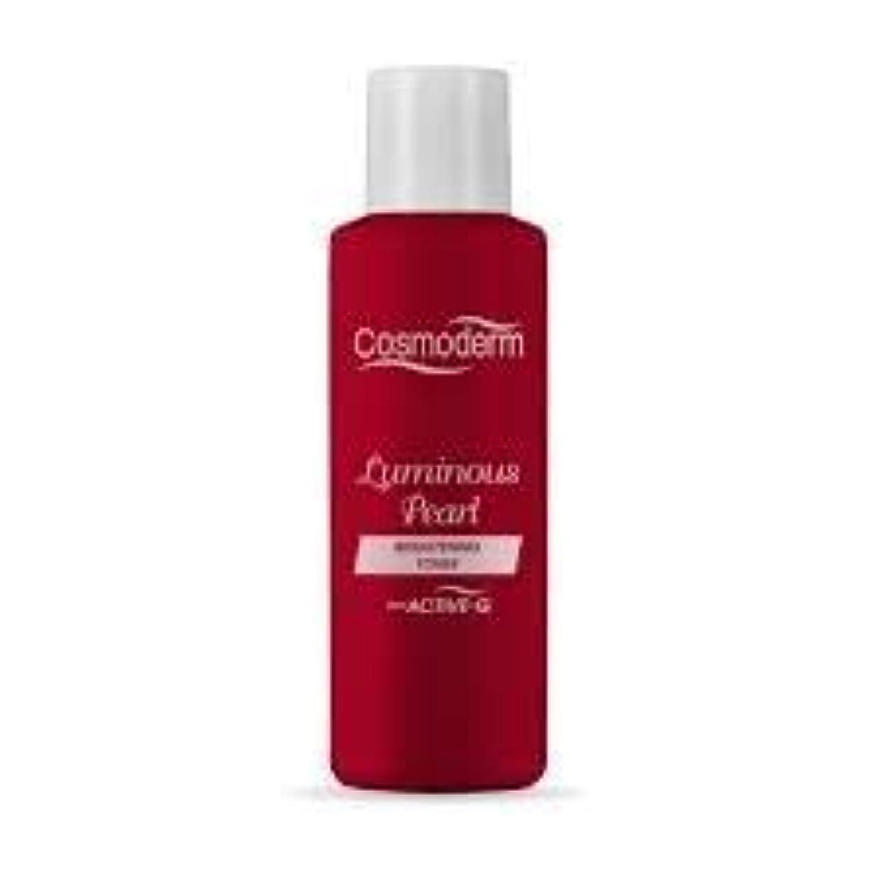 COSMODERM パールは、発光トナーを増白剤と百ミリリットルを照射すると、残留洗剤の肌のトーンを除去することにより、-helps。細胞の再生を促進し、肌を明るく