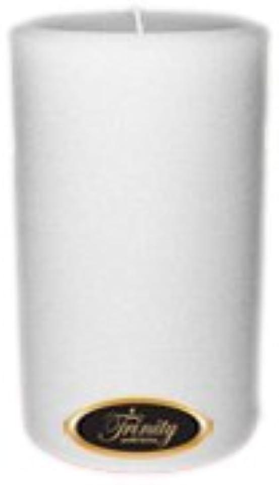 両方新着円形Trinity Candle工場 – Fresh Linen – Pillar Candle – 4 x 6