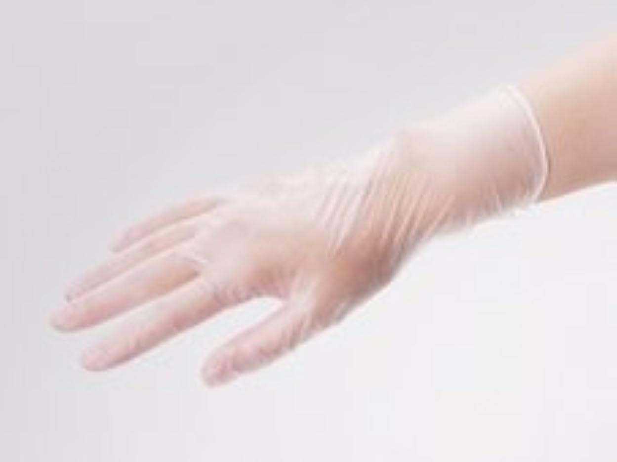 欠席架空の欠伸エクセレント プラスチック手袋 PVC-200PF Mサイズ(100枚入)