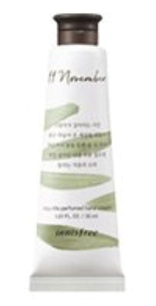 謎準備した大きさInnisfree Jeju life Perfumed Hand Cream (11月 秋の落葉) / イニスフリー 済州ライフ パフューム ハンドクリーム 30ml [並行輸入品]