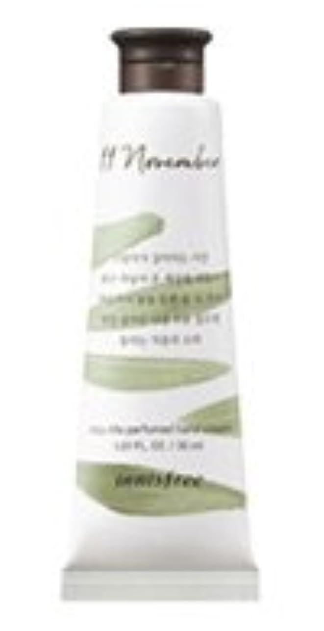 周辺メイド年次[1+1] イニスフリー 済州ライフパフューム ハンドクリーム (11月 秋の落葉) / Innisfree Jeju life Perfumed Hand Cream 30ml [並行輸入品]