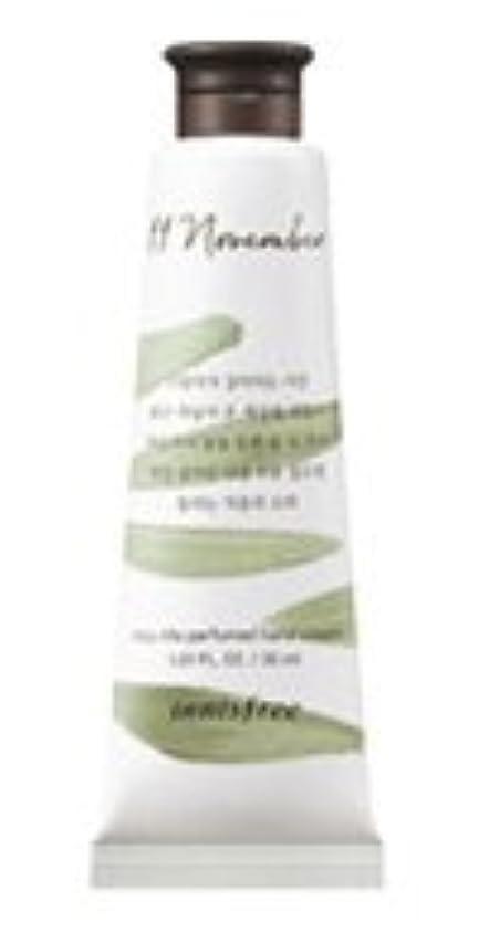 貧しい圧縮する暗殺する[1+1] イニスフリー 済州ライフパフューム ハンドクリーム (11月 秋の落葉) / Innisfree Jeju life Perfumed Hand Cream 30ml [並行輸入品]