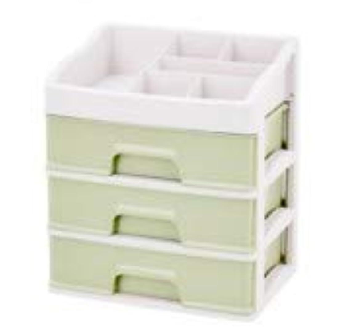 化粧品収納ボックス引き出しデスクトップ収納ラック化粧台化粧品ケーススキンケア製品 (Size : L)