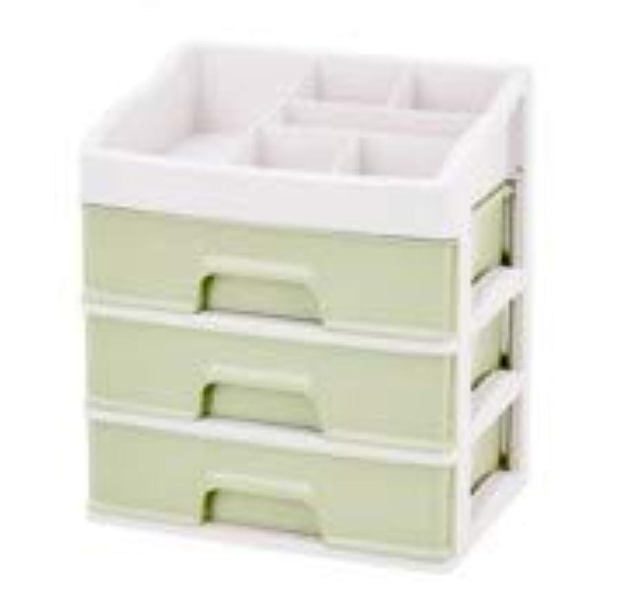 囚人土ファブリック化粧品収納ボックス引き出しデスクトップ収納ラック化粧台化粧品ケーススキンケア製品 (Size : L)