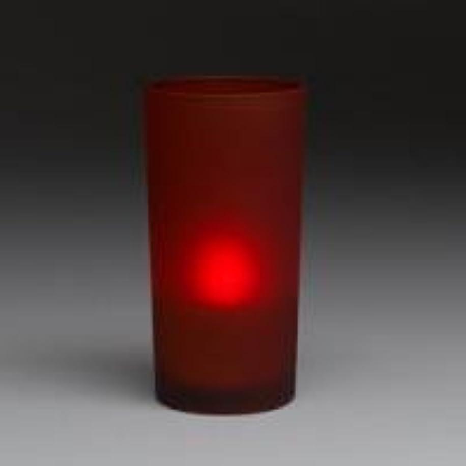 一方、の慈悲で締め切りsmartcandle-LEDトールグラスキャンドル/レッド