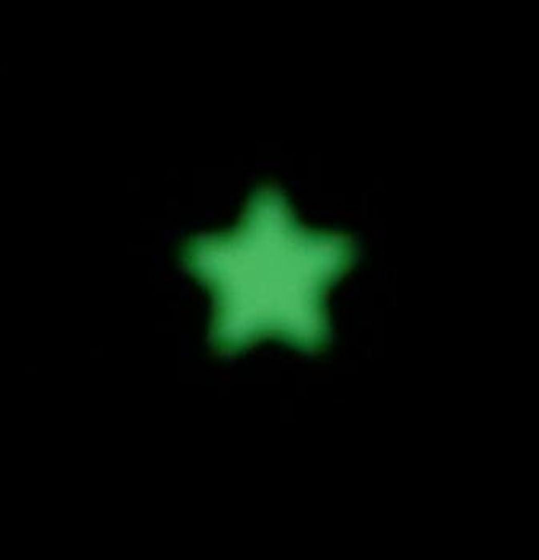 含む階下ゆり夜の暗闇で光るネイルシール【ルミシール】星?スター 1シート9枚入