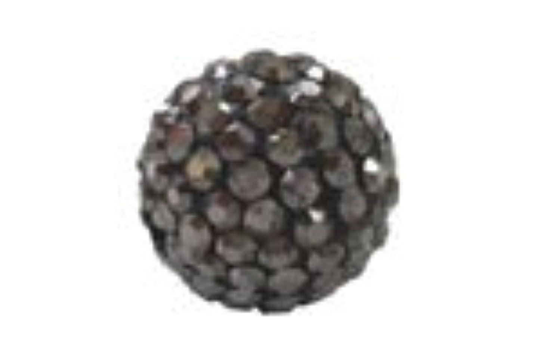 壊滅的なバイソン学校教育キラキラクリスタルボール ライトブラック6mm(2穴)