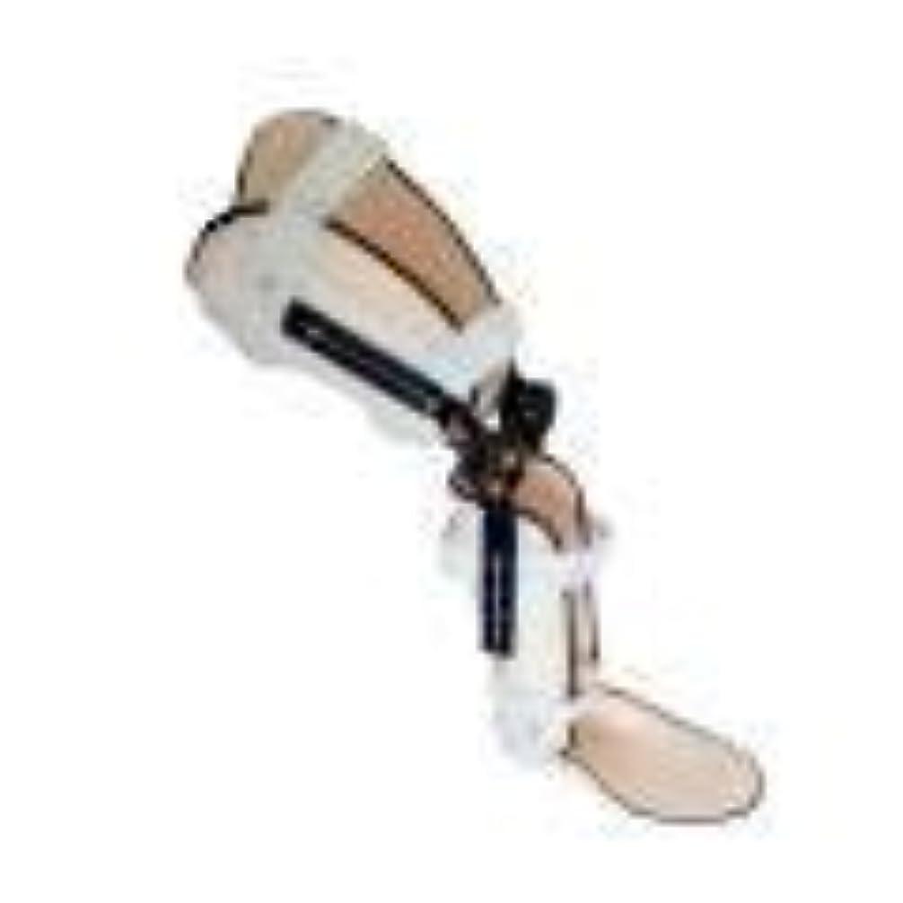 証言クロール半円ヒンジ付き膝装具、ポストOP膝蓋装具サポートスタビライザーパッド装具スプリントラップ医療用整形外科用ガードプロテクター (Color : As Picture, Size : Left Foot)