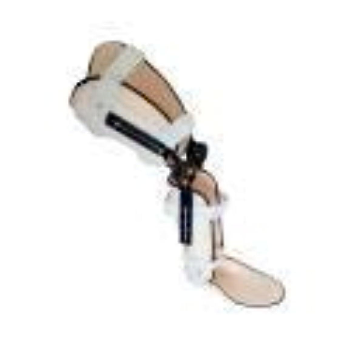 キャプテンブライ軍艦コアヒンジ付き膝装具、ポストOP膝蓋装具サポートスタビライザーパッド装具スプリントラップ医療用整形外科用ガードプロテクター (Color : As Picture, Size : Left Foot)
