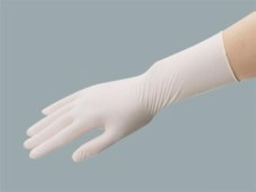 鼻適用済み下向きエクセレント ラテックス手袋 NR-350粉付 Lサイズ(100枚入)