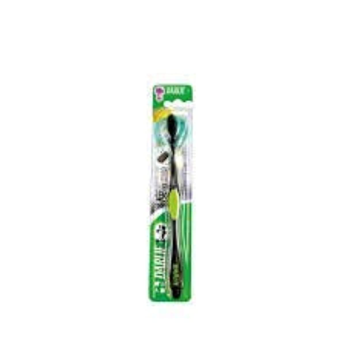 メガロポリス活発アジアDARLIE チャコールブラック歯磨き粉歯ブラシのクリーニングはテーパ1S-口臭を防止するために、活性炭粒子で強化毛。