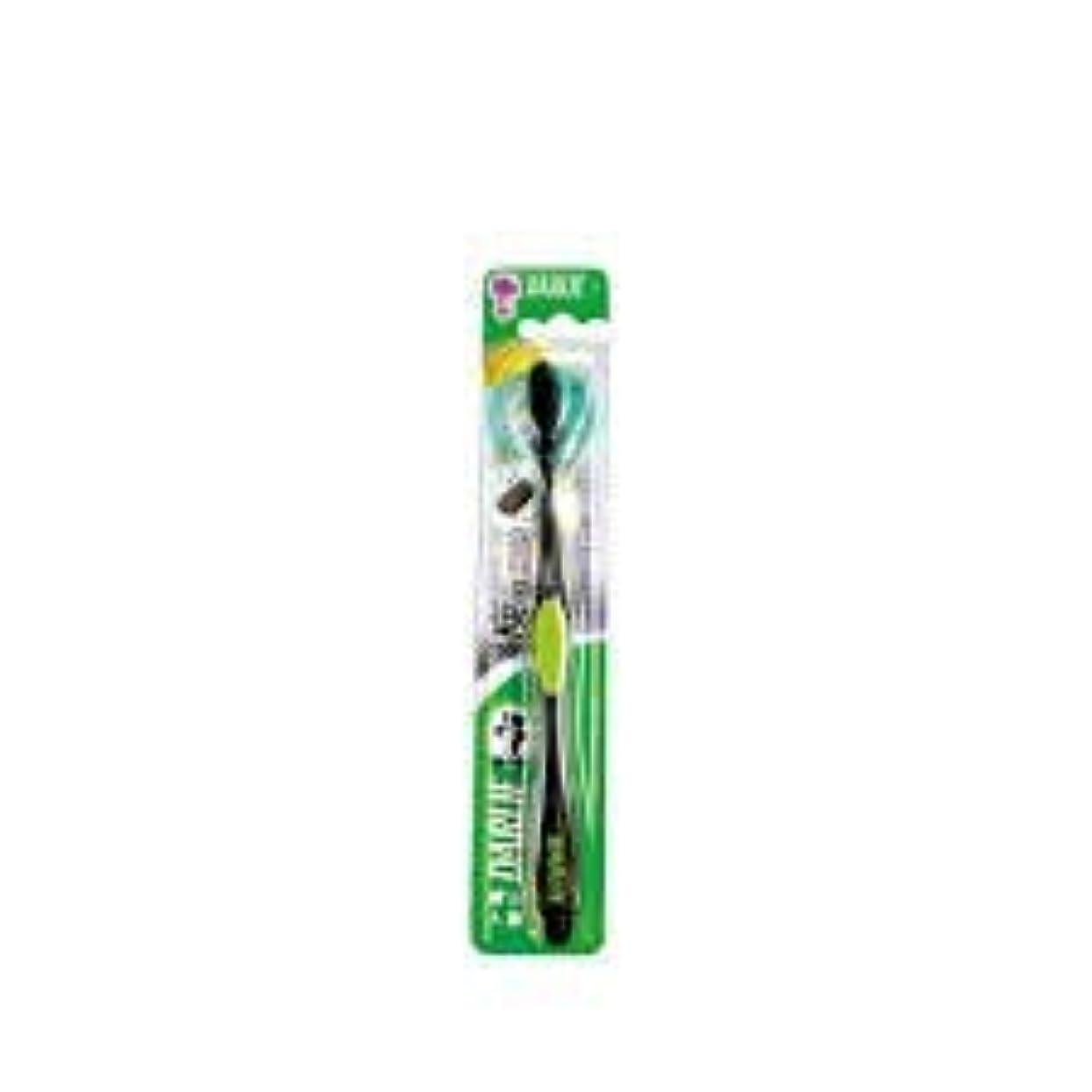 リスナープーノアルカイックDARLIE チャコールブラック歯磨き粉歯ブラシのクリーニングはテーパ1S-口臭を防止するために、活性炭粒子で強化毛。