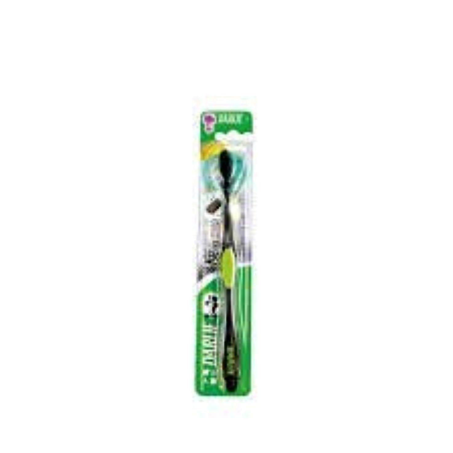 ホットそう行政DARLIE チャコールブラック歯磨き粉歯ブラシのクリーニングはテーパ1S-口臭を防止するために、活性炭粒子で強化毛。