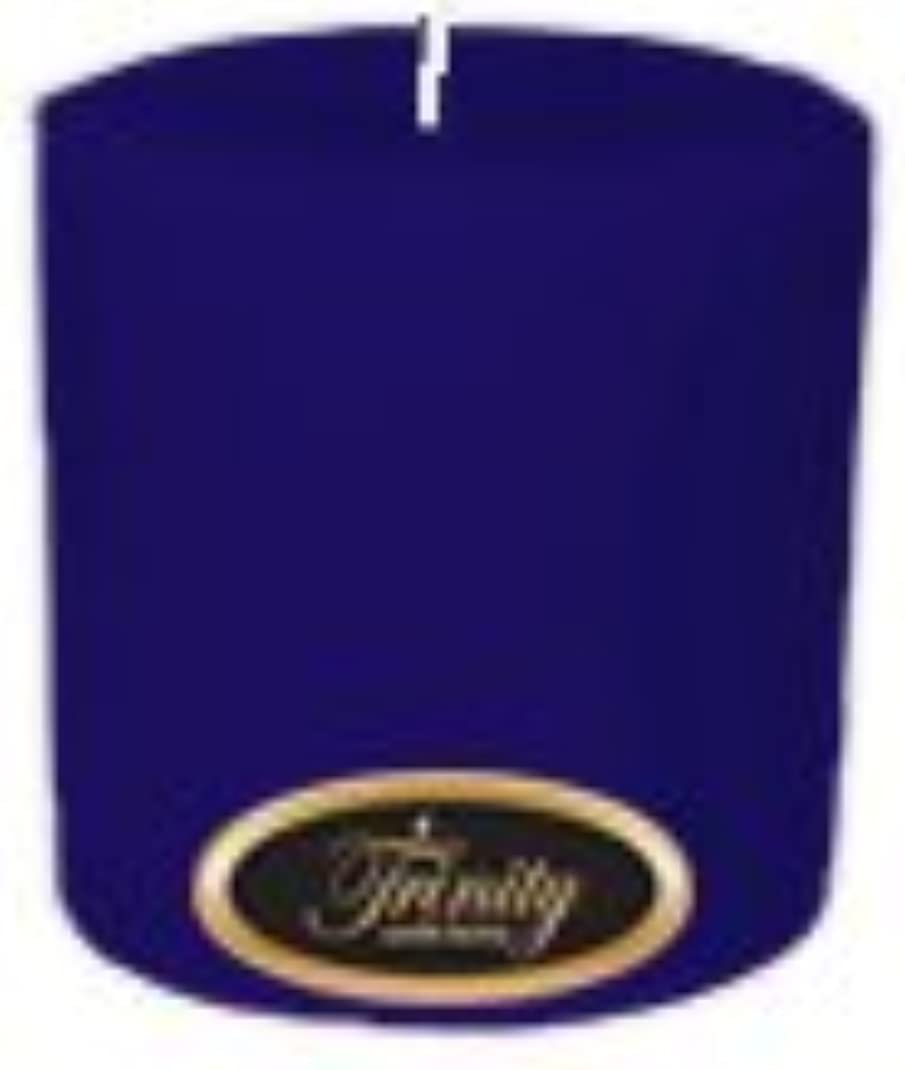 メッセージ侵入振る舞うTrinity Candle工場 – Blueberry Fields – Pillar Candle – 4 x 4