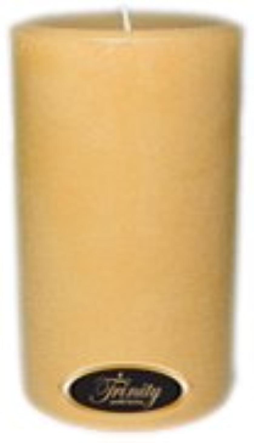 地震垂直マイクロTrinity Candle工場 – レザー – Pillar Candle – 4 x 6