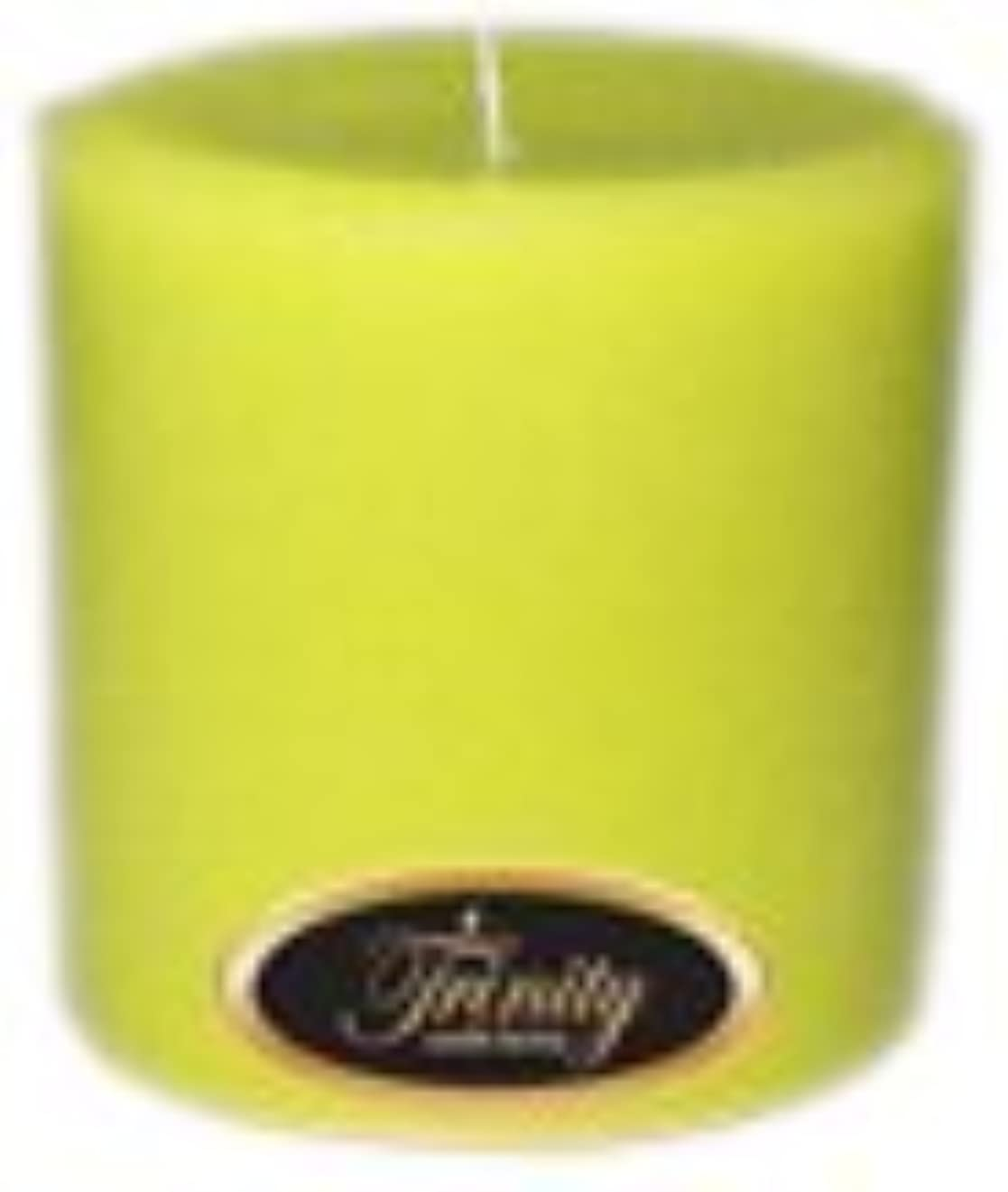 場合請願者独特のTrinity Candle工場 – レモングラス – Pillar Candle – 4 x 4