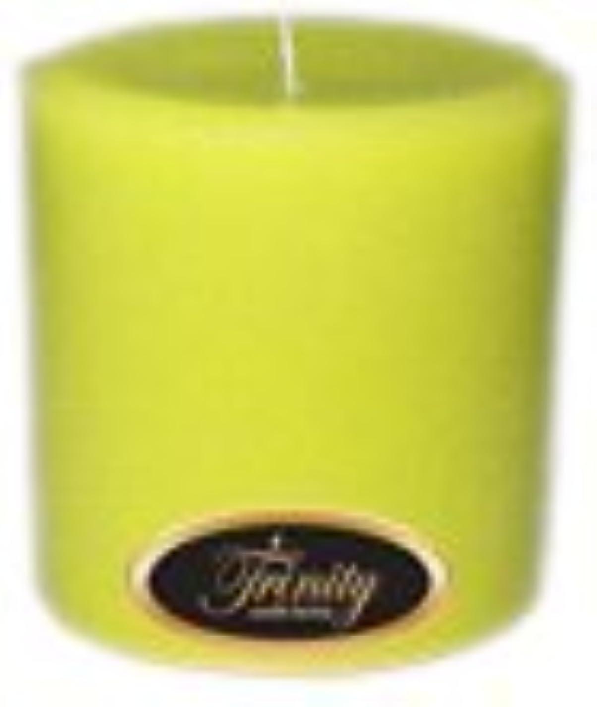 手つかずのスリッパピアTrinity Candle工場 – レモングラス – Pillar Candle – 4 x 4