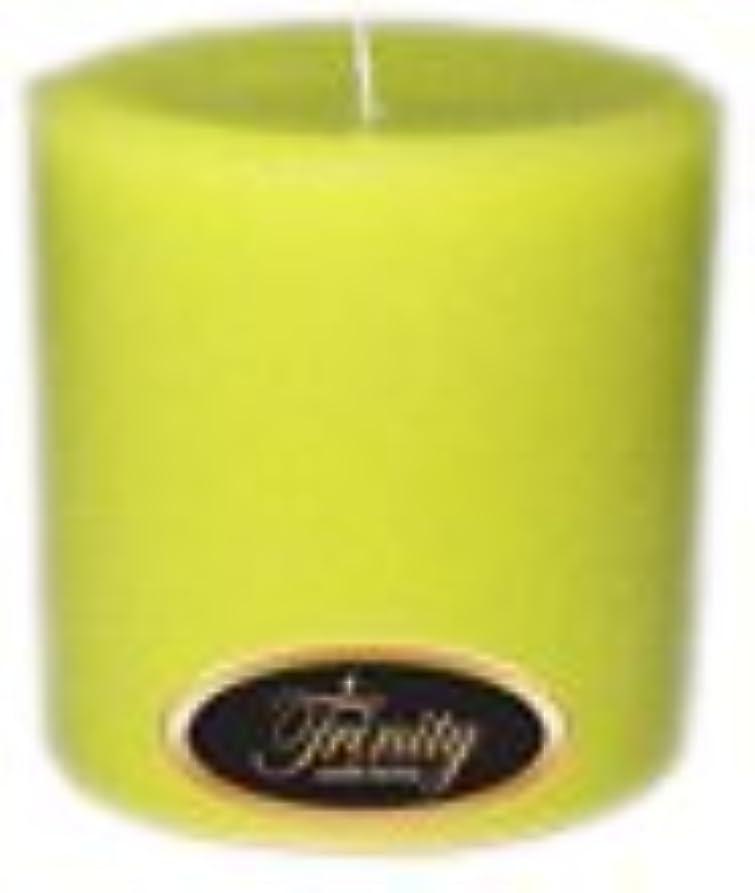 知人できる四面体Trinity Candle工場 – レモングラス – Pillar Candle – 4 x 4