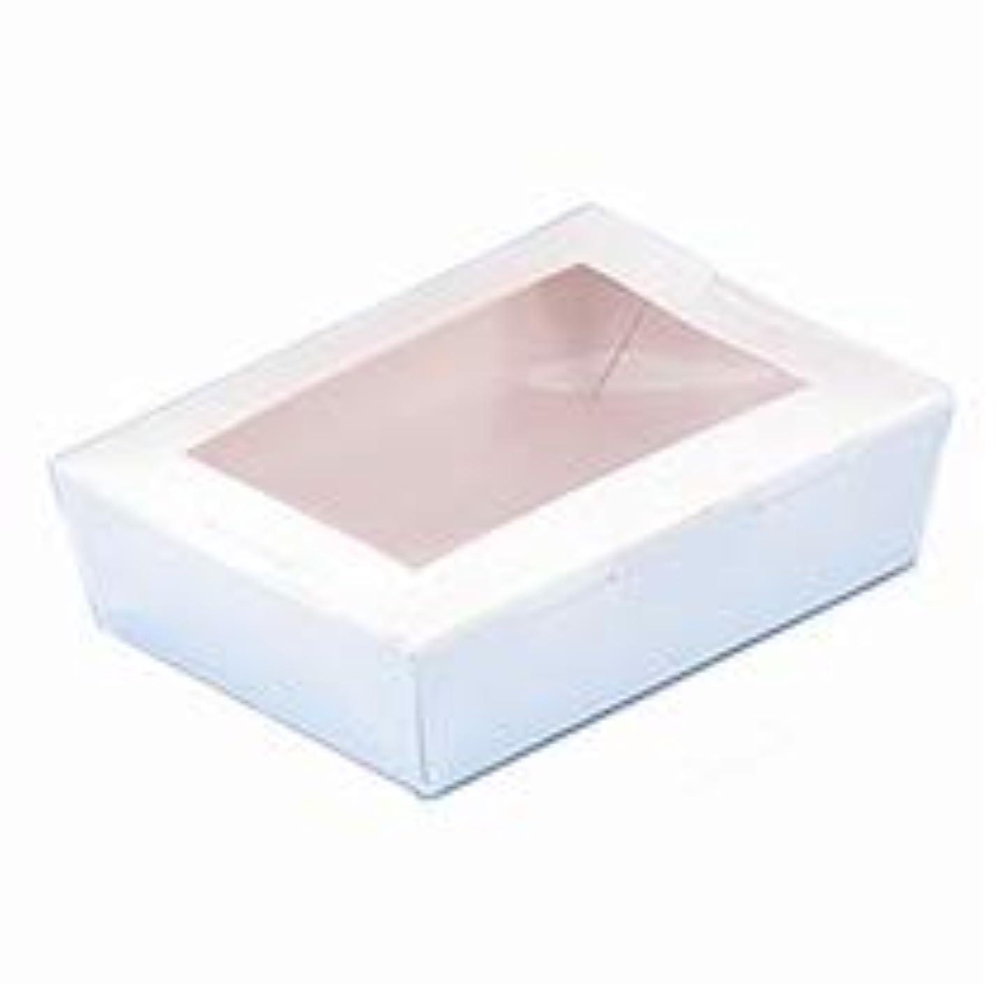 ヒギンズ構築する発表する手作り石けん用 窓付きペーパーモールド XSサイズ ホワイト 1個
