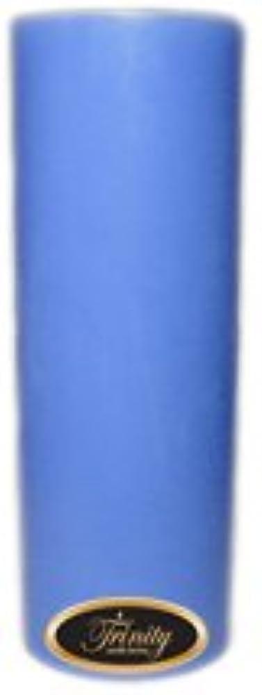 印象的お尻劇作家Trinity Candle工場 – ベビーパウダー – ブルー – Pillar Candle – 3 x 9