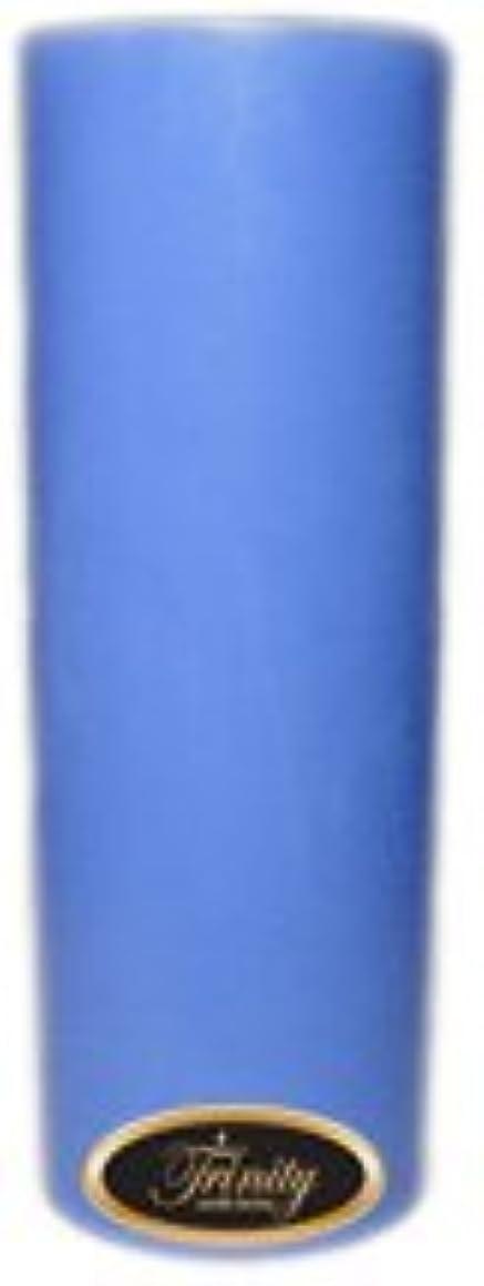 ポータル下着明快Trinity Candle工場 – ベビーパウダー – ブルー – Pillar Candle – 3 x 9