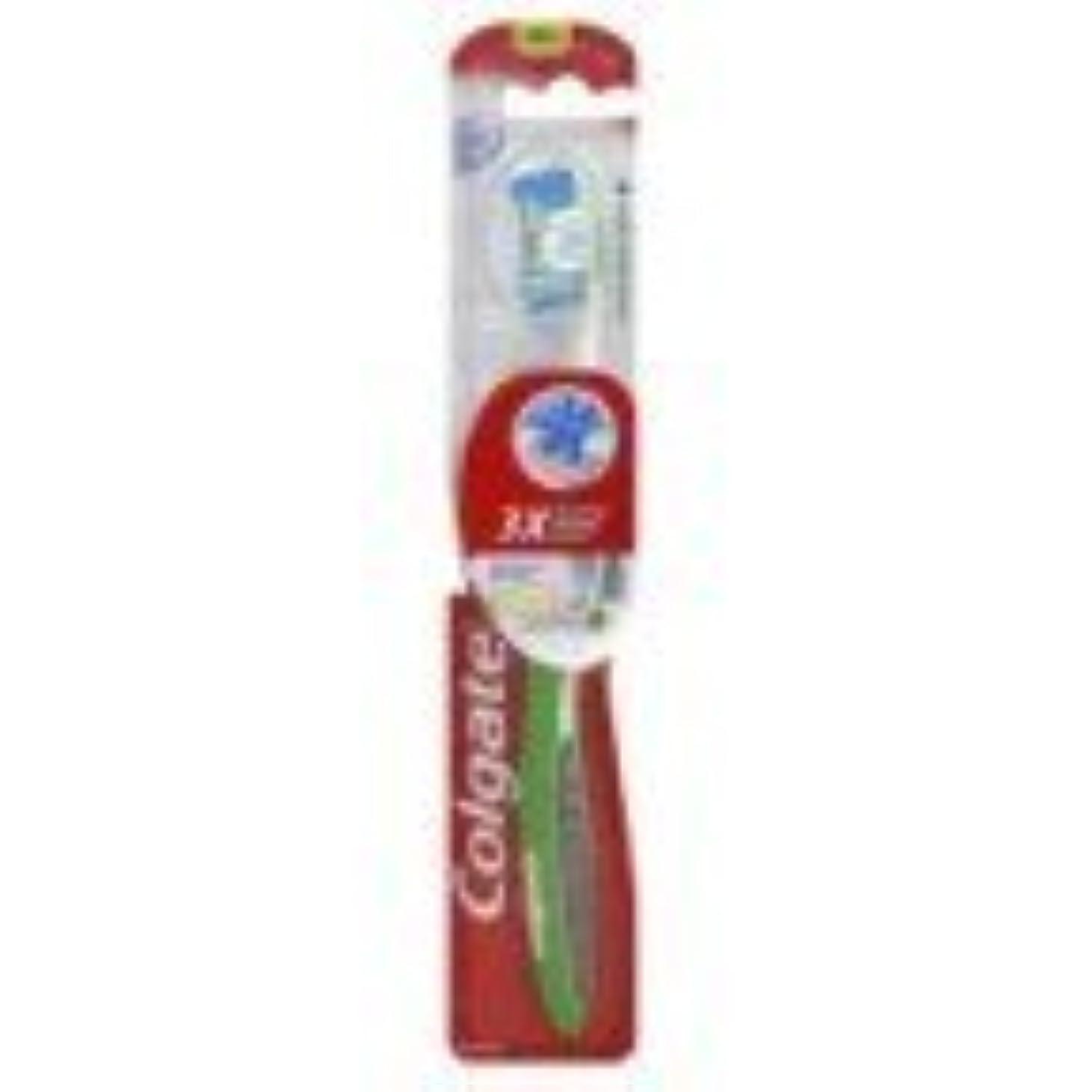 サワーエレベーター明るいColgate 6のミディアムピンク360サラウンド歯ブラシ、パック