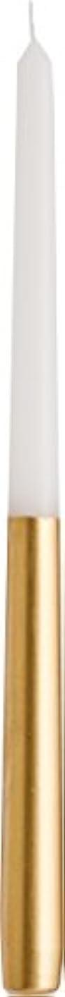 第二合わせてペチュランスカメヤマキャンドルハウス ツートンテーパーキャンドル 高さ30.5cm ゴールド