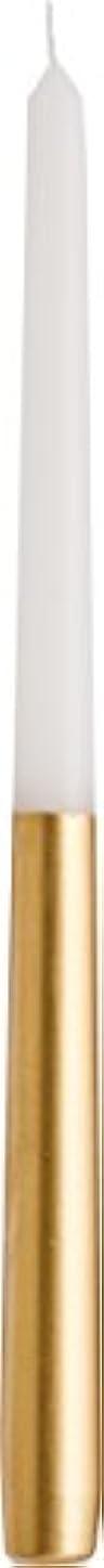 がんばり続ける芸術的うがい薬カメヤマキャンドルハウス ツートンテーパーキャンドル 高さ30.5cm ゴールド