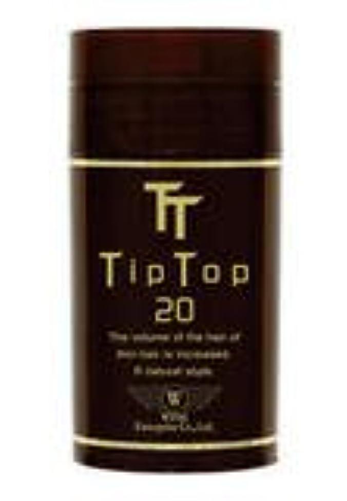 ティップトップ20 20g 高品質な特殊繊維 (フルだけ瞬間薄毛ケア) No2:ダークブラウン