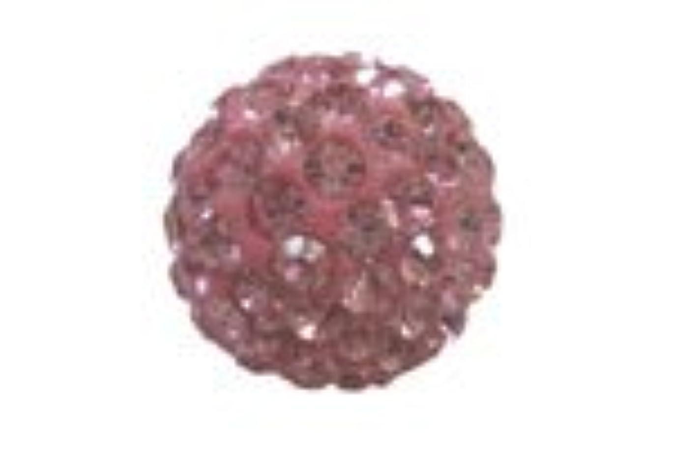 削る中で生物学キラキラクリスタルボール ピンク6mm (片穴)
