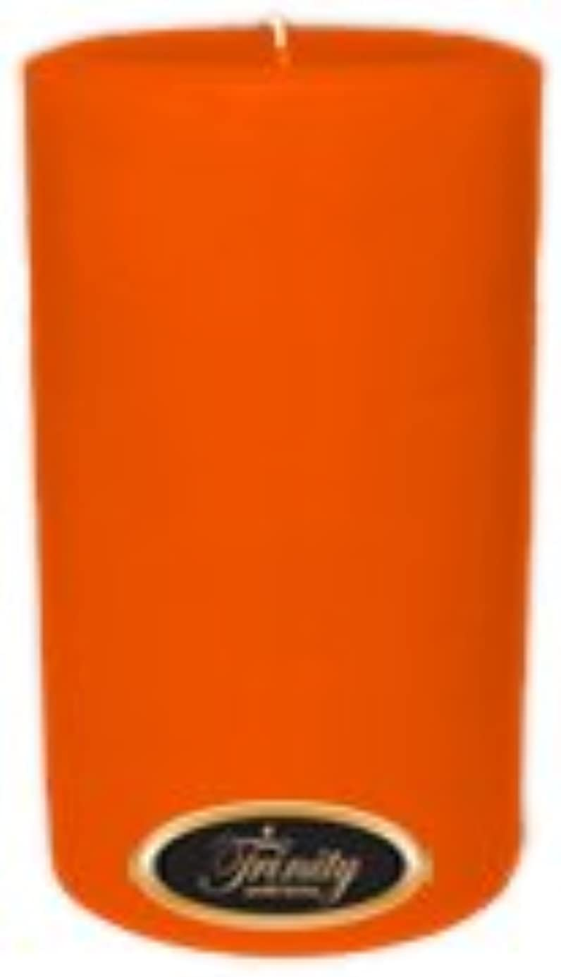スタジオ含めるビーズTrinity Candle工場 – フロリダオレンジ – Pillar Candle – 4 x 6