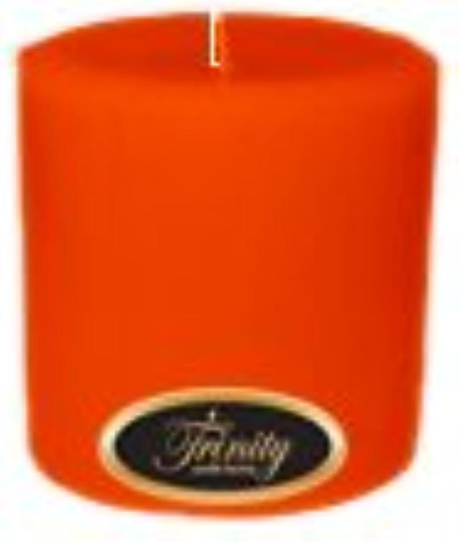 シマウママーク凝視Trinity Candle工場 – Pumpkin Pie – Pillar Candle – 4 x 4