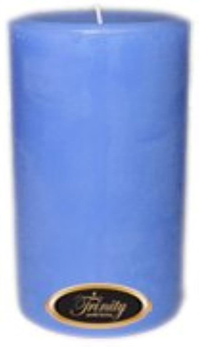 無バーベキューコーデリアTrinity Candle工場 – ベビーパウダー – ブルー – Pillar Candle – 4 x 6
