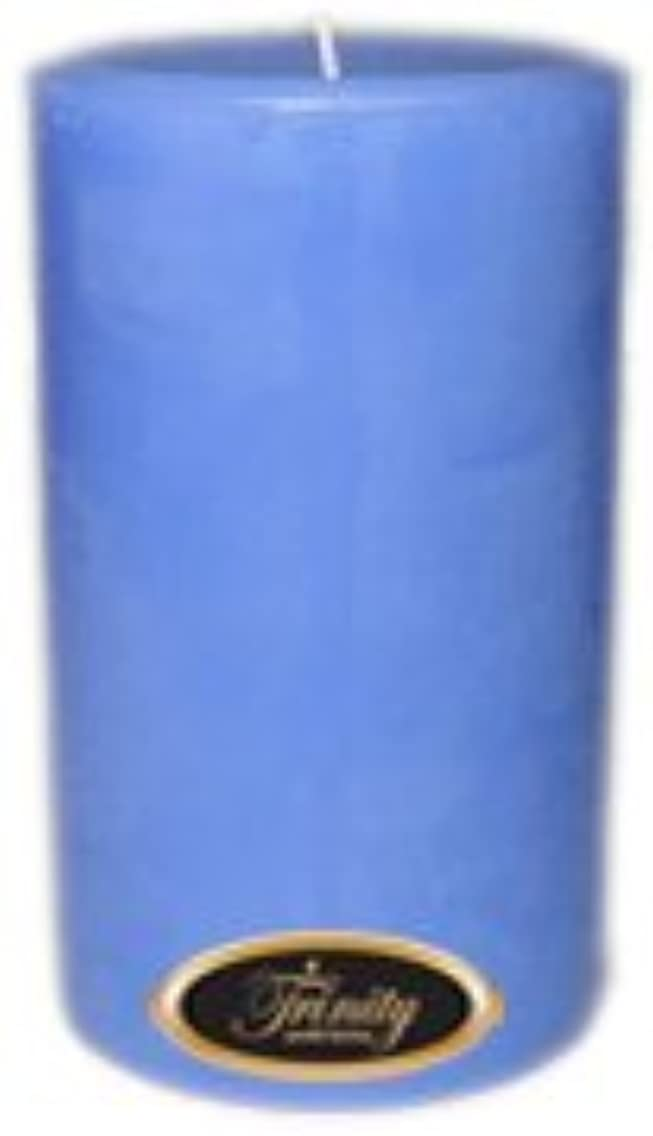 確かな掃除回転Trinity Candle工場 – ベビーパウダー – ブルー – Pillar Candle – 4 x 6