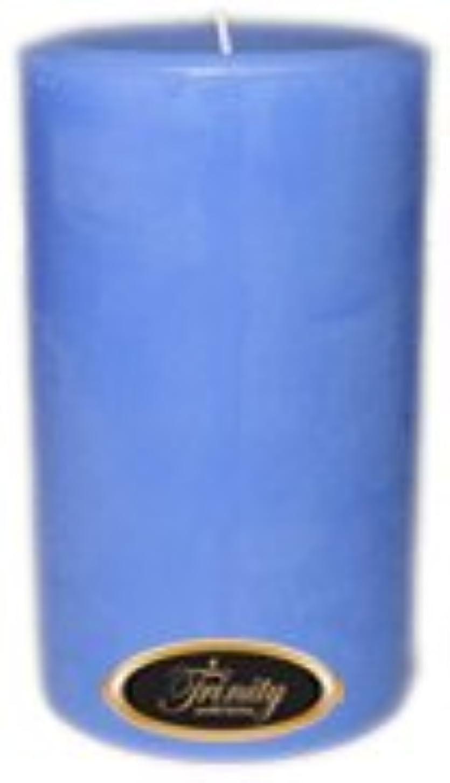 平手打ちピボットオフセットTrinity Candle工場 – ベビーパウダー – ブルー – Pillar Candle – 4 x 6